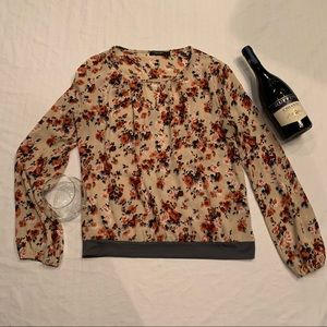 Lungo l'arno Floral long sleeve blouse